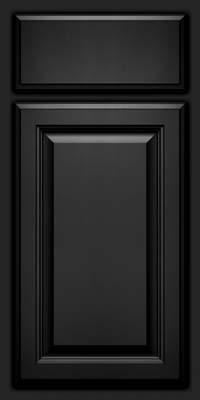 Square Raised Panel - Veneer (GV) Maple in Onyx - Base