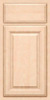 Square Raised Panel - Veneer (GV) Maple in Parchment - Base