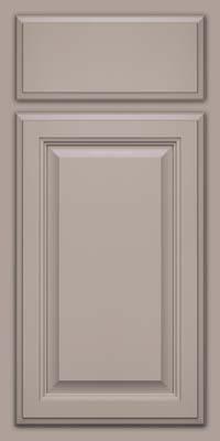 Square Raised Panel - Veneer (GV) Maple in Pebble Grey - Base