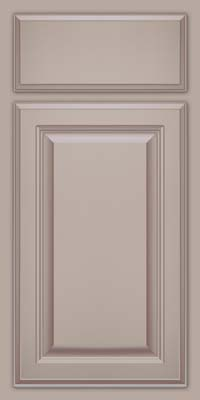Square Raised Panel - Veneer (GV) Maple in Pebble Grey w/ Coconut Glaze - Base