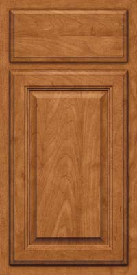 Square Raised Panel - Veneer (GV) Maple in Praline w/Onyx Glaze - Base