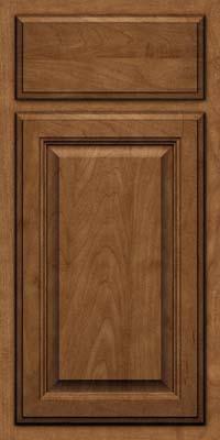Square Raised Panel - Veneer (GV) Maple in Rye w/Onyx Glaze - Base