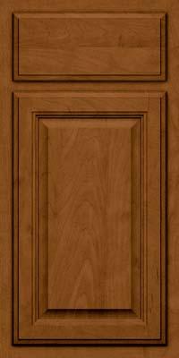 Square Raised Panel - Veneer (GV) Maple in Rye w/Sable Glaze - Base