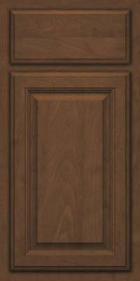 Square Raised Panel - Veneer (GV) Maple in Saddle Suede - Base