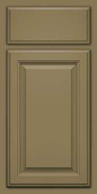 Square Raised Panel - Veneer (GV) Maple in Sage - Base