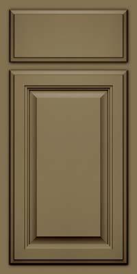 Square Raised Panel - Veneer (GV) Maple in Sage w/Cocoa Glaze - Base