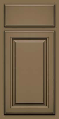 Square Raised Panel - Veneer (GV) Maple in Sage w/Onyx Glaze - Base