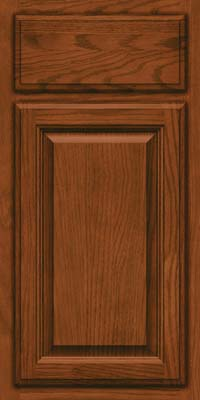 Square Raised Panel - Veneer (BN) Oak in Autumn Blush - Base