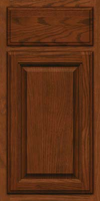 Square Raised Panel - Veneer (BN) Oak in Autumn Blush w/Onyx Glaze - Base