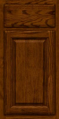 Square Raised Panel - Veneer (BN) Oak in Cognac - Base