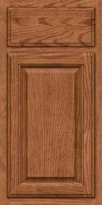 Square Raised Panel - Veneer (BN) Oak in Ginger w/Sable Glaze - Base