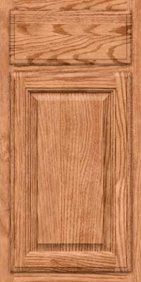 Square Raised Panel - Veneer (BN) Oak in Honey Spice - Base