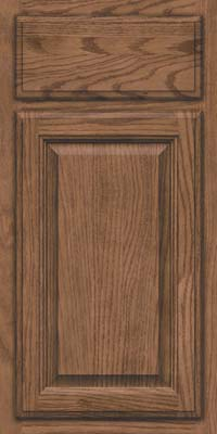 Square Raised Panel - Veneer (BN) Oak in Husk Suede - Base