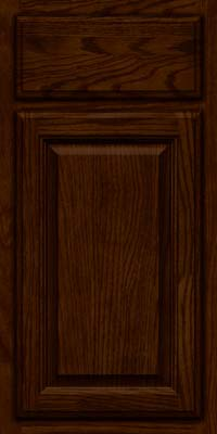 Square Raised Panel - Veneer (BN) Oak in Kaffe - Base