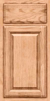 Square Raised Panel - Veneer (BN) Oak in Natural - Base