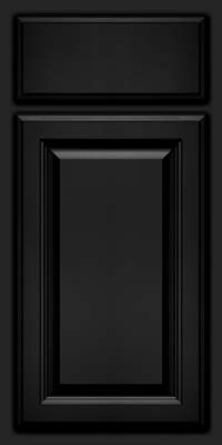 Square Raised Panel - Veneer (BN) Oak in Onyx - Base