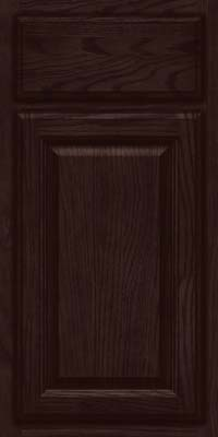 Square Raised Panel - Veneer (BN) Oak in Peppercorn - Base
