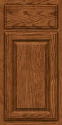 Square Raised Panel - Veneer (BN) Oak in Rye - Base