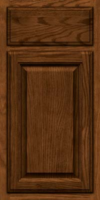 Square Raised Panel - Veneer (BN) Oak in Rye w/Onyx Glaze - Base