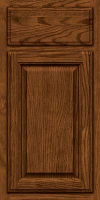 Square Raised Panel - Veneer (BN) Oak in Rye w/Sable Glaze - Base