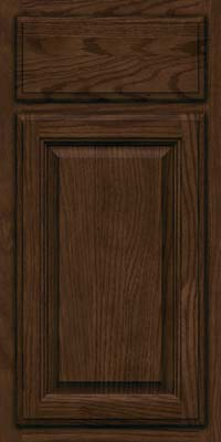 Square Raised Panel - Veneer (BN) Oak in Saddle - Base