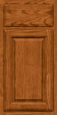 Square Raised Panel - Veneer (BN) Oak in Toffee - Base