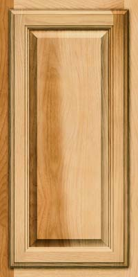 Square Raised Panel - Veneer (WT) Hickory in Natural - Wall