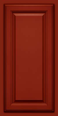 Square Raised Panel - Veneer (GV) Maple in Cardinal w/Onyx Glaze - Wall
