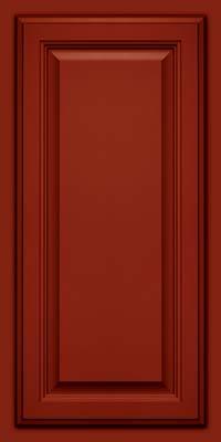 Square Raised Panel - Veneer (GV) Maple in Cardinal w/Onyx Glaze - Wall