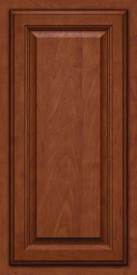Square Raised Panel - Veneer (GV) Maple in Chestnut w/Onyx Glaze - Wall