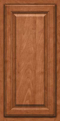 Square Raised Panel - Veneer (GV) Maple in Cinnamon - Wall