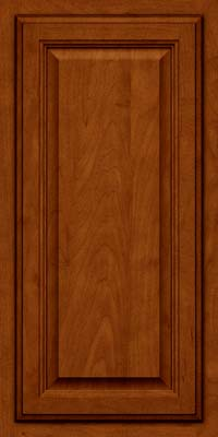 Square Raised Panel - Veneer (GV) Maple in Cinnamon w/Onyx Glaze - Wall