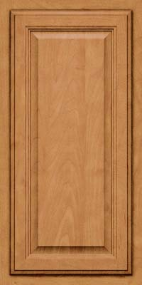 Square Raised Panel - Veneer (GV) Maple in Ginger w/Sable Glaze - Wall