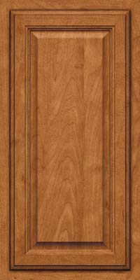 Square Raised Panel - Veneer (GV) Maple in Praline w/Onyx Glaze - Wall