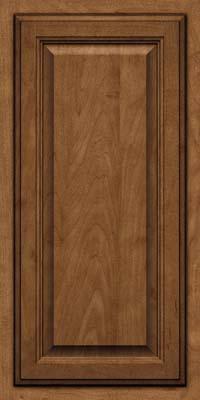 Square Raised Panel - Veneer (GV) Maple in Rye w/Onyx Glaze - Wall