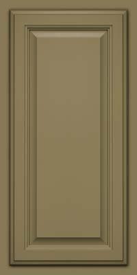 Square Raised Panel - Veneer (GV) Maple in Sage - Wall