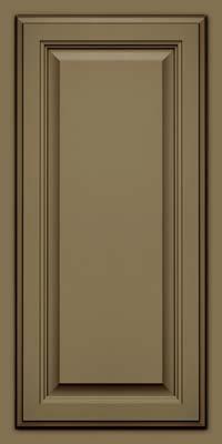 Square Raised Panel - Veneer (GV) Maple in Sage w/Cocoa Glaze - Wall