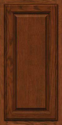 Square Raised Panel - Veneer (BN) Oak in Autumn Blush w/Onyx Glaze - Wall