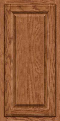 Square Raised Panel - Veneer (BN) Oak in Ginger w/Sable Glaze - Wall