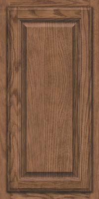Square Raised Panel - Veneer (BN) Oak in Husk Suede - Wall