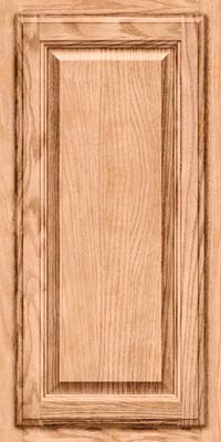 Square Raised Panel - Veneer (BN) Oak in Natural - Wall