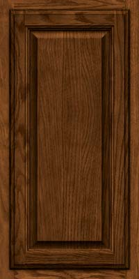 Square Raised Panel - Veneer (BN) Oak in Rye w/Onyx Glaze - Wall