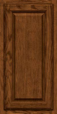 Square Raised Panel - Veneer (BN) Oak in Rye w/Sable Glaze - Wall