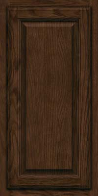 Square Raised Panel - Veneer (BN) Oak in Saddle - Wall