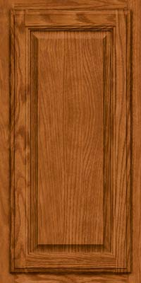 Square Raised Panel - Veneer (BN) Oak in Toffee - Wall