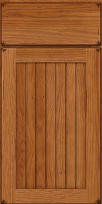 Square Beaded - Solid (BWH) Hickory in Burnished Praline - Base