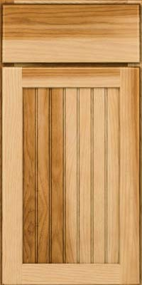 Square Beaded - Solid (BWH) Hickory in Natural - Base
