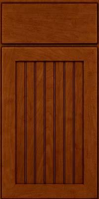 Square Beaded - Solid (BWM) Maple in Cinnamon w/Onyx Glaze - Base