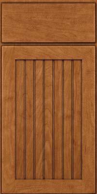 Square Beaded - Solid (BWM) Maple in Praline w/Onyx Glaze - Base
