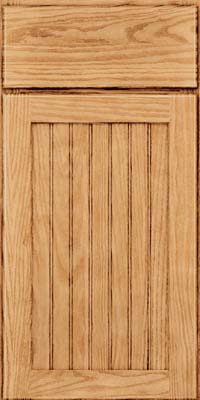 Square Beaded - Solid (SMG) Oak in Natural - Base